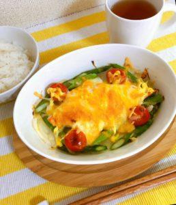鮭と野菜のチーズマヨ焼き