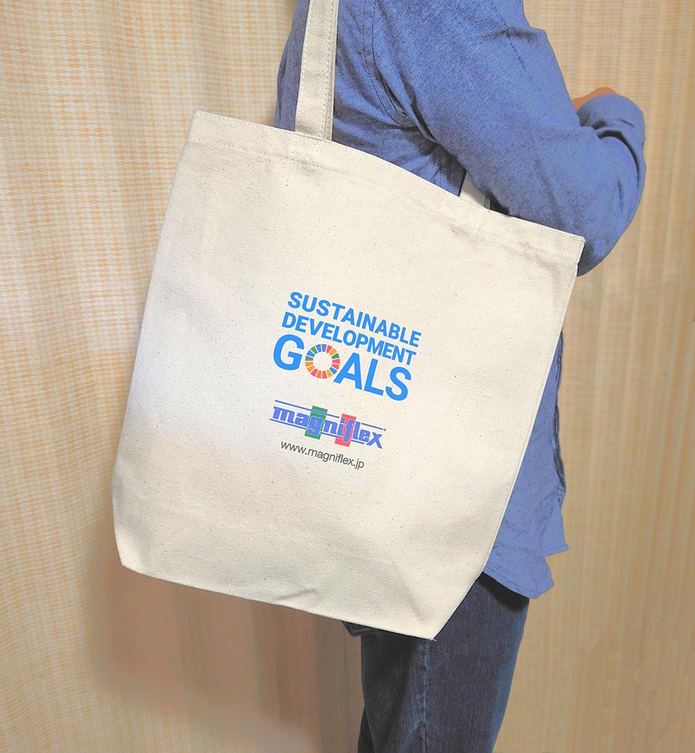 SDGs × マニフレックス エコバッグ / マニステージ福岡
